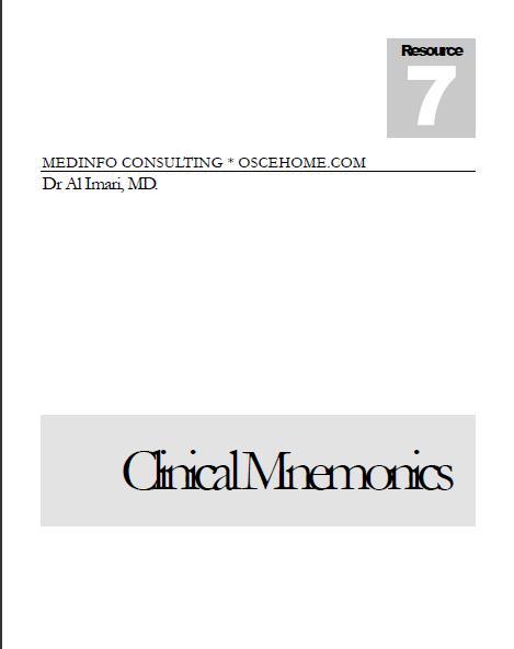 Clinical Mnemonics