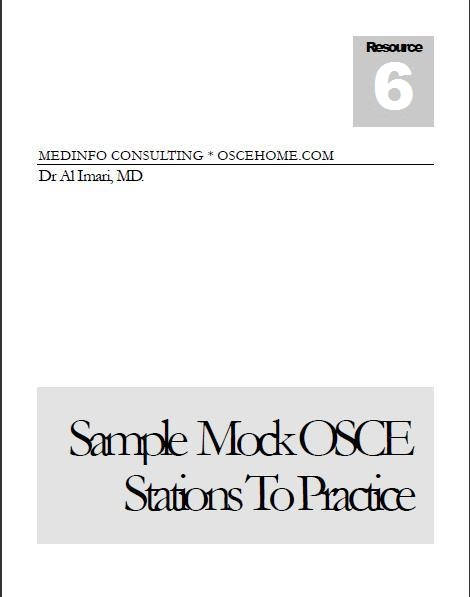 Sample Mock OSCE Stations To Practice eBook
